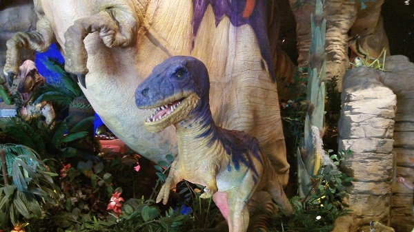 T-Rex-Prehistoric-Family-Adventure-Downtown-Disney-Smaller-Dinosaur