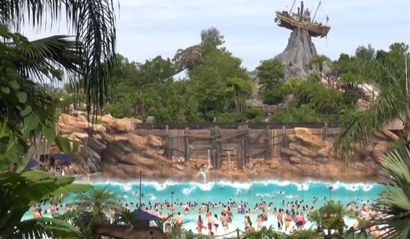 TYPHOON LAGOON Disney World Florida water park wave pool