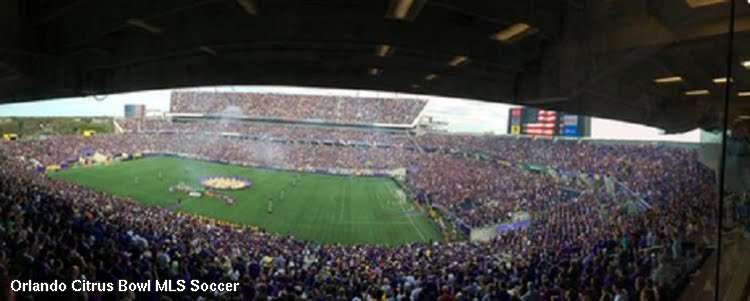 Orlando City Soccer debut in the orlando citrus bowl