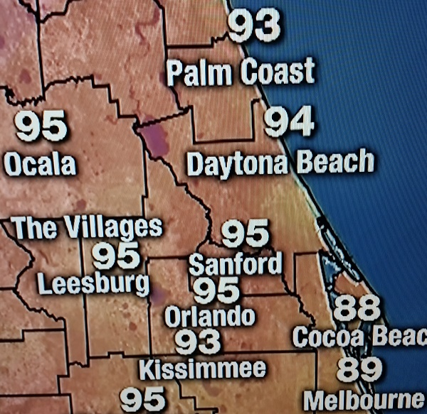 Temps all over Orlando are hot as a match