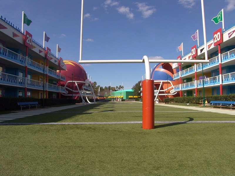 all star sports football field