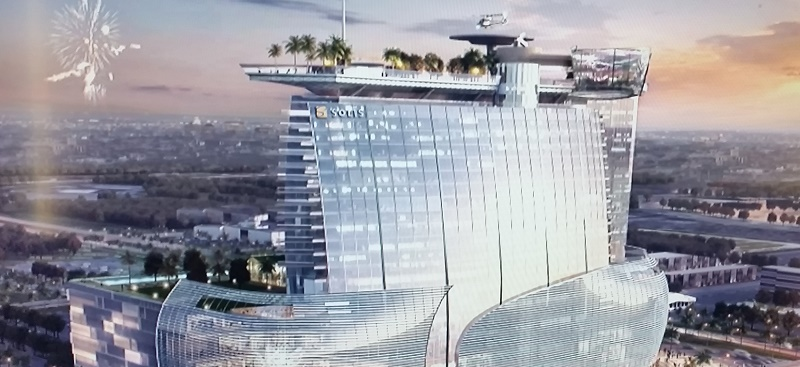 i square mall and hotel exterior rendering