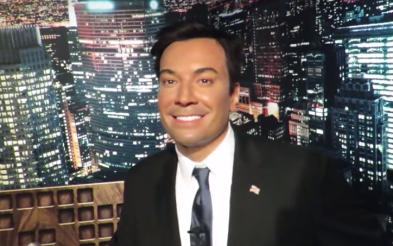 jimmy fallon wax figure